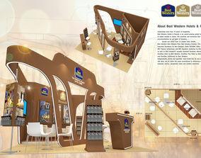 Booth Best Western Hotel design size 600 X 450 cm 3D asset