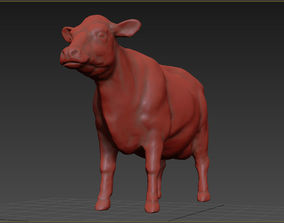 realistic Cow 3D printable model animal