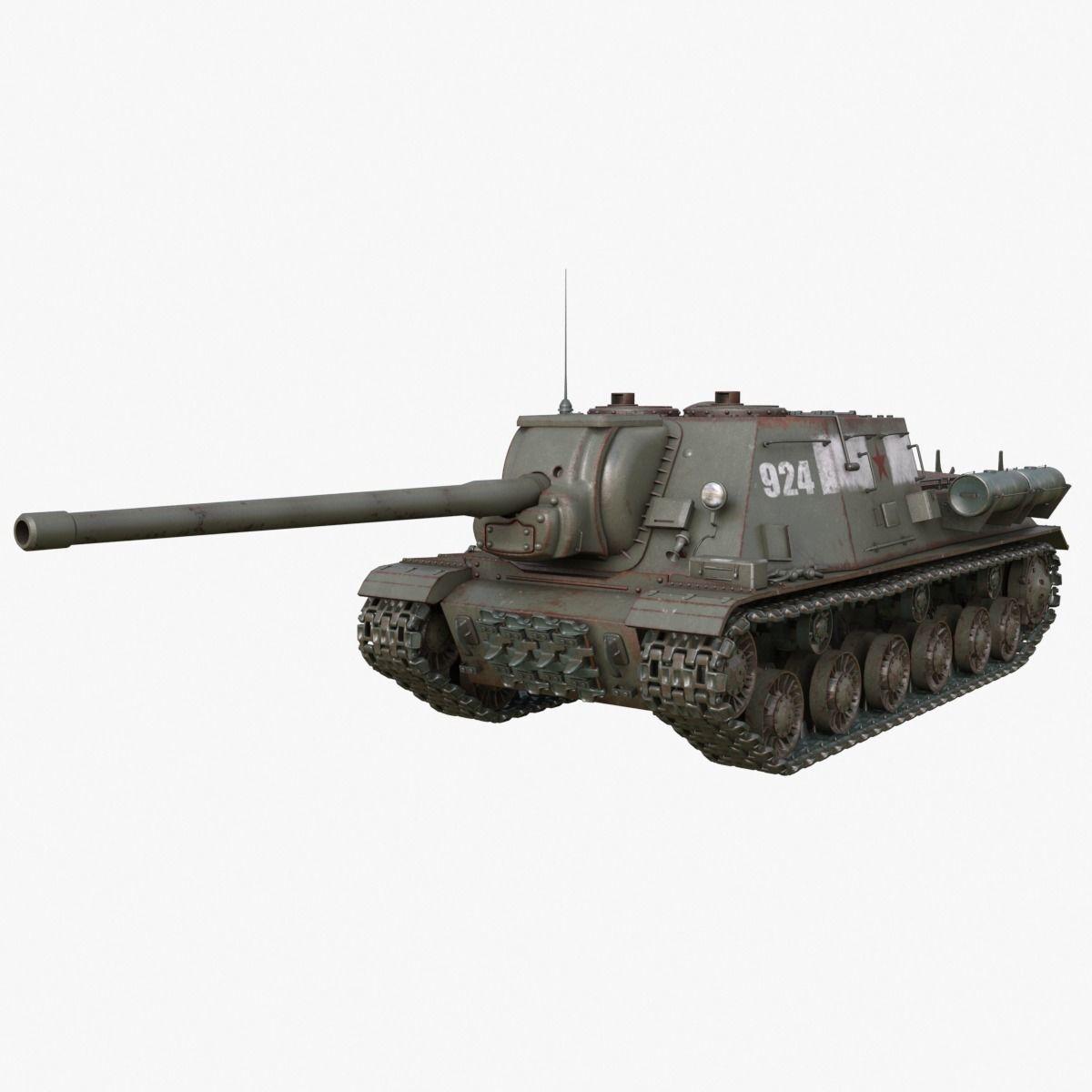 Tank ISU 122 Russian Mental Ray