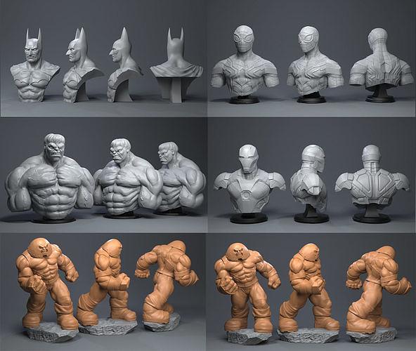 super hero 3d model obj mtl stl ztl 1