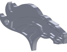 Broncos Horse Head Key Fob 3D printable model