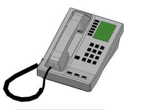 Office Telephone 3D model