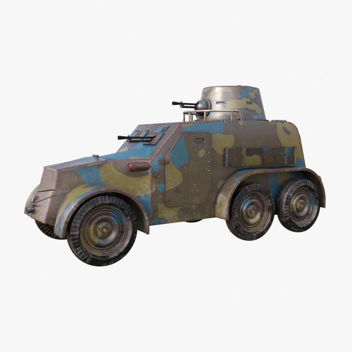 OA vz 30 Armoured Car Czechoslovak Mental Ray