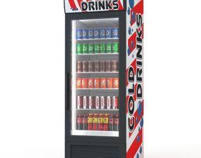 3D Cold drinks fridge
