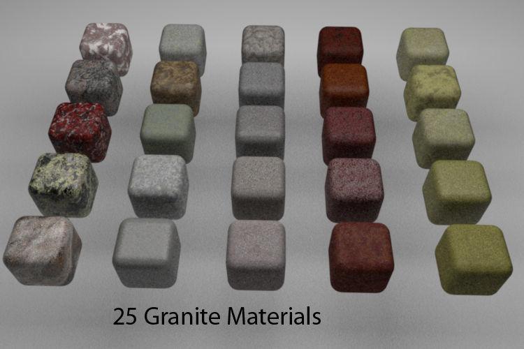 Granite Materials Pack 1 for C4D R20   3D model