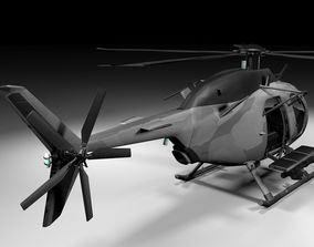 Recon Heli Lowpoly 3D model