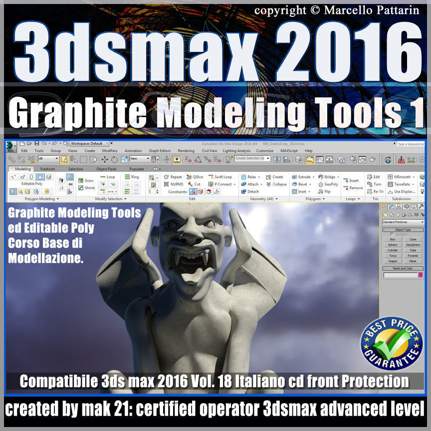 018 3ds max 2016 Graphite Modeling Tools 1 vol 18 cd front