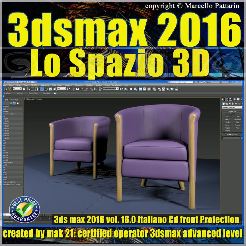 016 3ds max 2016 Lo Spazio 3D vol 16 cd front
