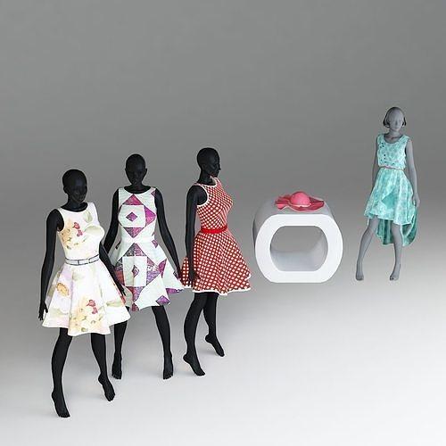 women fashion 3d models 3d model max fbx 1