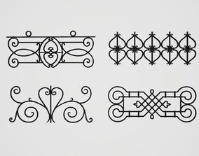 Wrought Iron Railings 3D model
