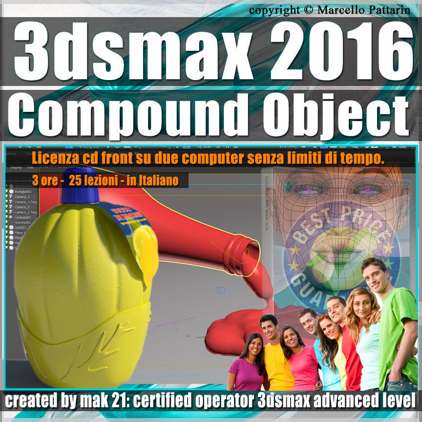 004 3ds max 2016 Compound Object 1 volume 4 cd front