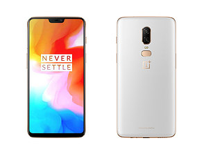 game-ready Oneplus 6 Silk White 3d Model