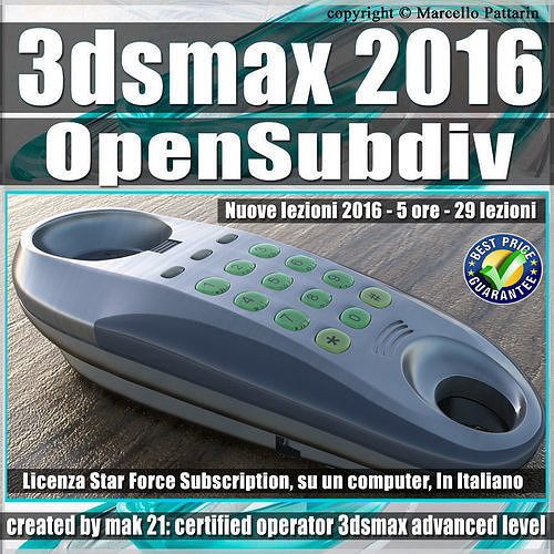 044 3ds max 2016 Modeling OpenSubdiv CreaseSet vol44 CD front