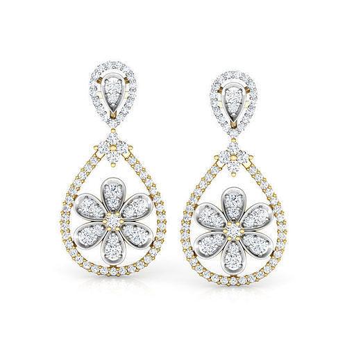 bell and pear drop earrings 3d model obj mtl stl 3dm ige igs iges 1