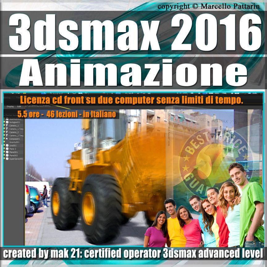 005 3ds max 2016 Animazione vol 5 Italiano cd front