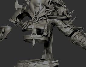 3D Orc girl high poly sculpt Zbrush no head