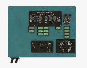 Mi-8MT Mi-17MT Left Overhead Panels Board English 3D asset