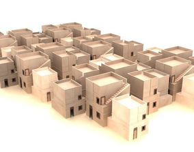 3D asset game-ready Urban City