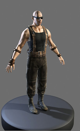 riddick 3d model low-poly max obj mtl 1