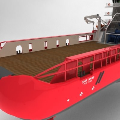 anchor handling tug supply ship 01 3d model max obj 3ds fbx 9