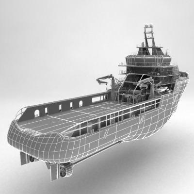 Anchor Handling Tug Supply Ship 01
