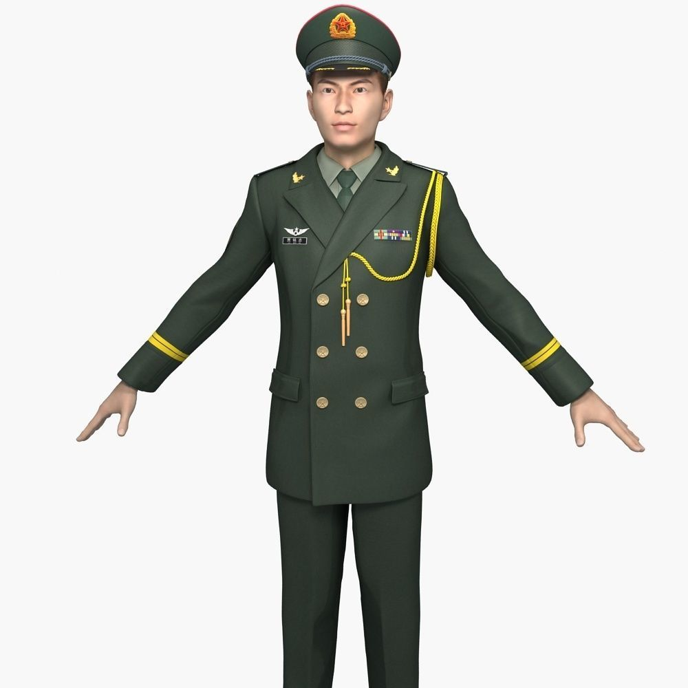 Chinese Army Officers Spring and Autumn Clothes