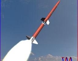 aerobee 170 rocket 3d