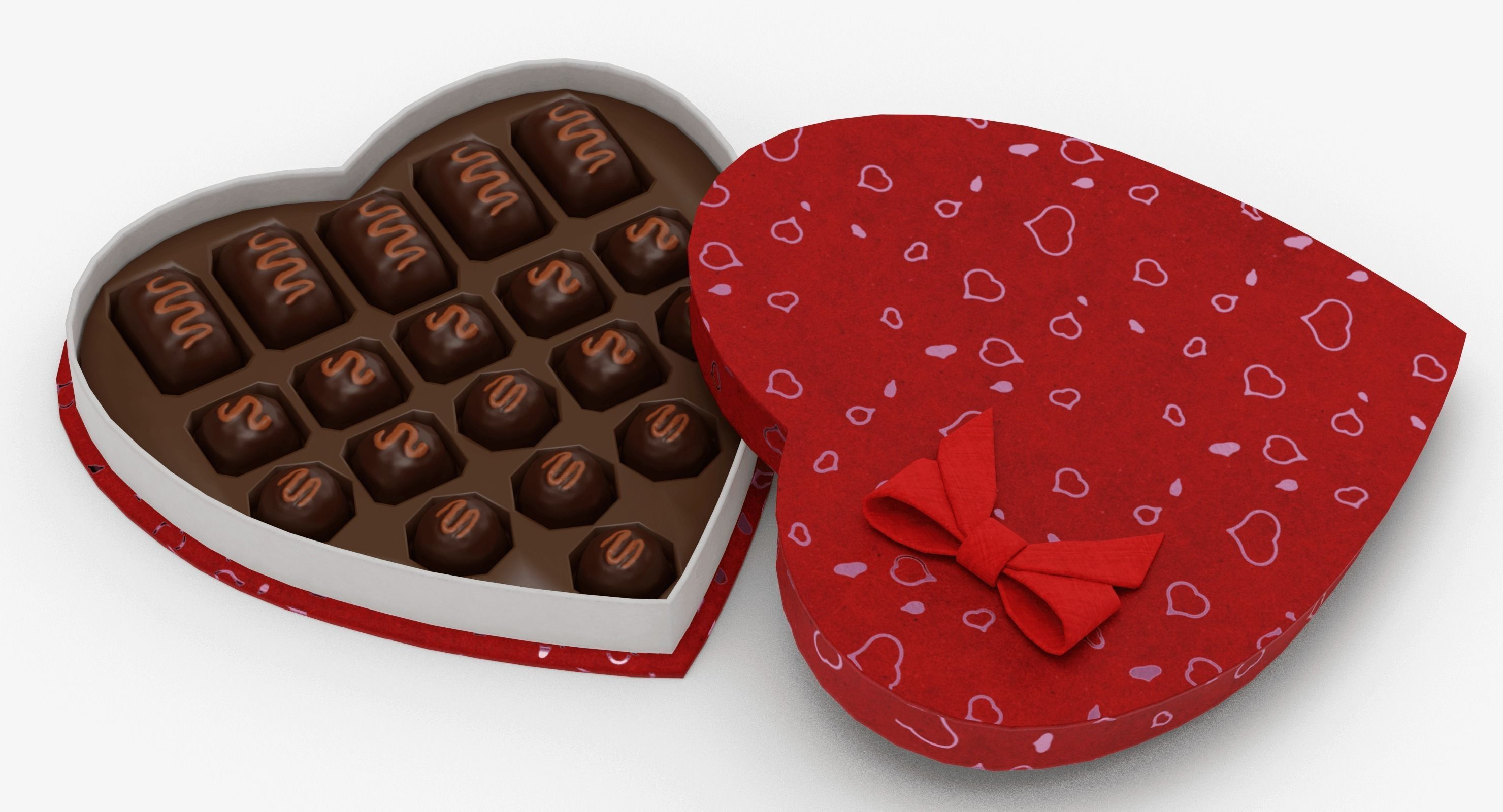 Valentines Candy Box 3D asset   CGTrader
