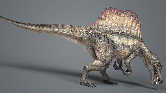 spinosaurus-anim 3d model max fbx bip 1