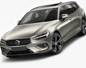sweden Volvo V60 2019 3D model