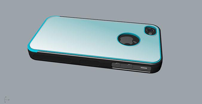iphone4 and 4s black transparent mold case 3d model obj mtl 3ds fbx stl 3dm skp 1