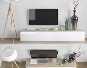 3D model VR / AR ready shelf Tv stand