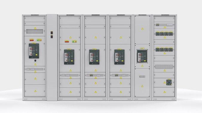 switching cabinets server automation  3d model max obj mtl fbx stl 1