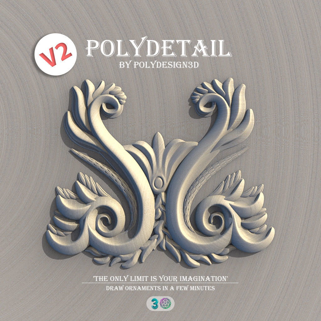 PolyDetail - Ornament Plugin for 3dsMax | 3D model