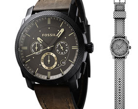 3D model Watch Fossil with Leather Strap