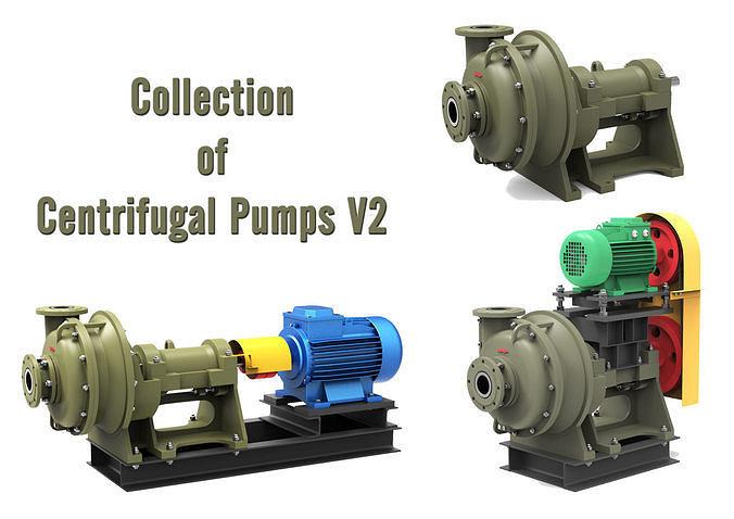 collection of centrifugal pumps v2 3d model max obj mtl fbx c4d 1