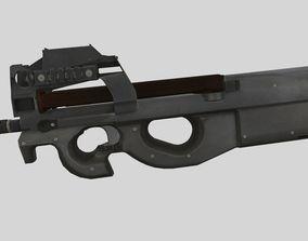 3D model Submachine gun P90