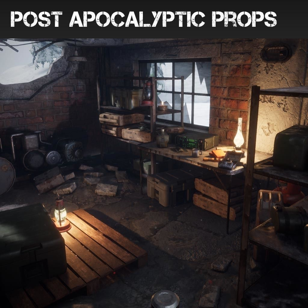 Post Apocalyptic Props Pack Unreal Engine 4 | 3D model