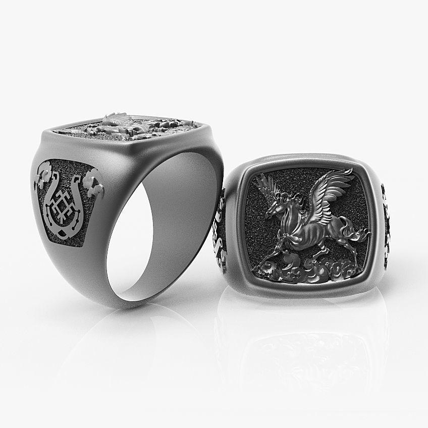 Ring Pegasus Horse