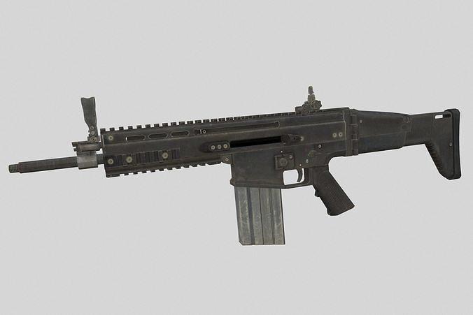 scar-h 3d model low-poly max obj mtl fbx blend 1