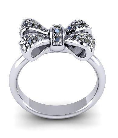 beautiful bow ring 24 3d model obj mtl stl 3dm 1