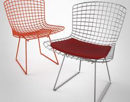 bertoia chair by knoll 3d model