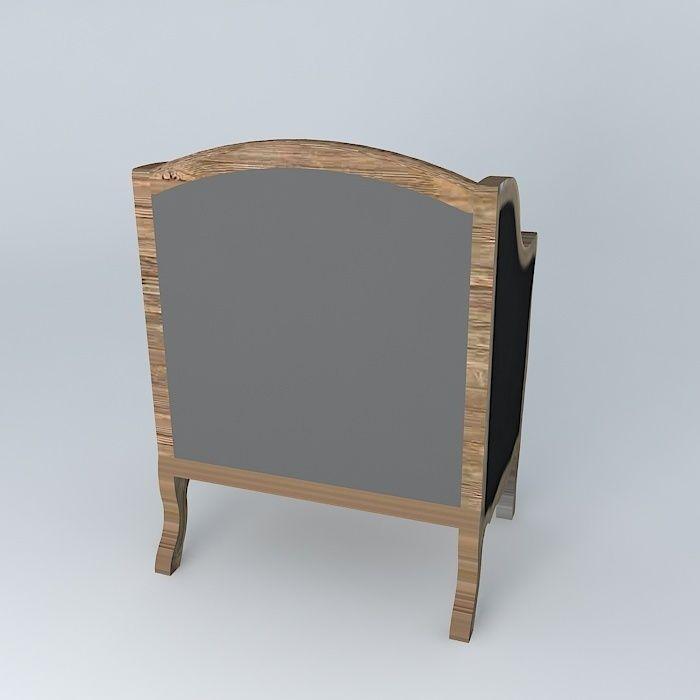 Black armchair archibald maisons du monde 3d model max obj 3ds fbx stl dae - Table archibald maison du monde ...