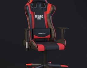 PC Gamer Chair Red Hero 3D