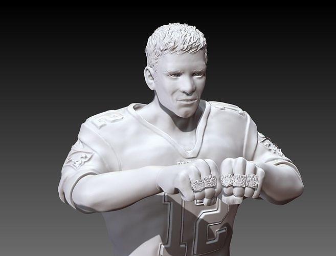 tom brady fist full of victory  3d model obj mtl stl 1