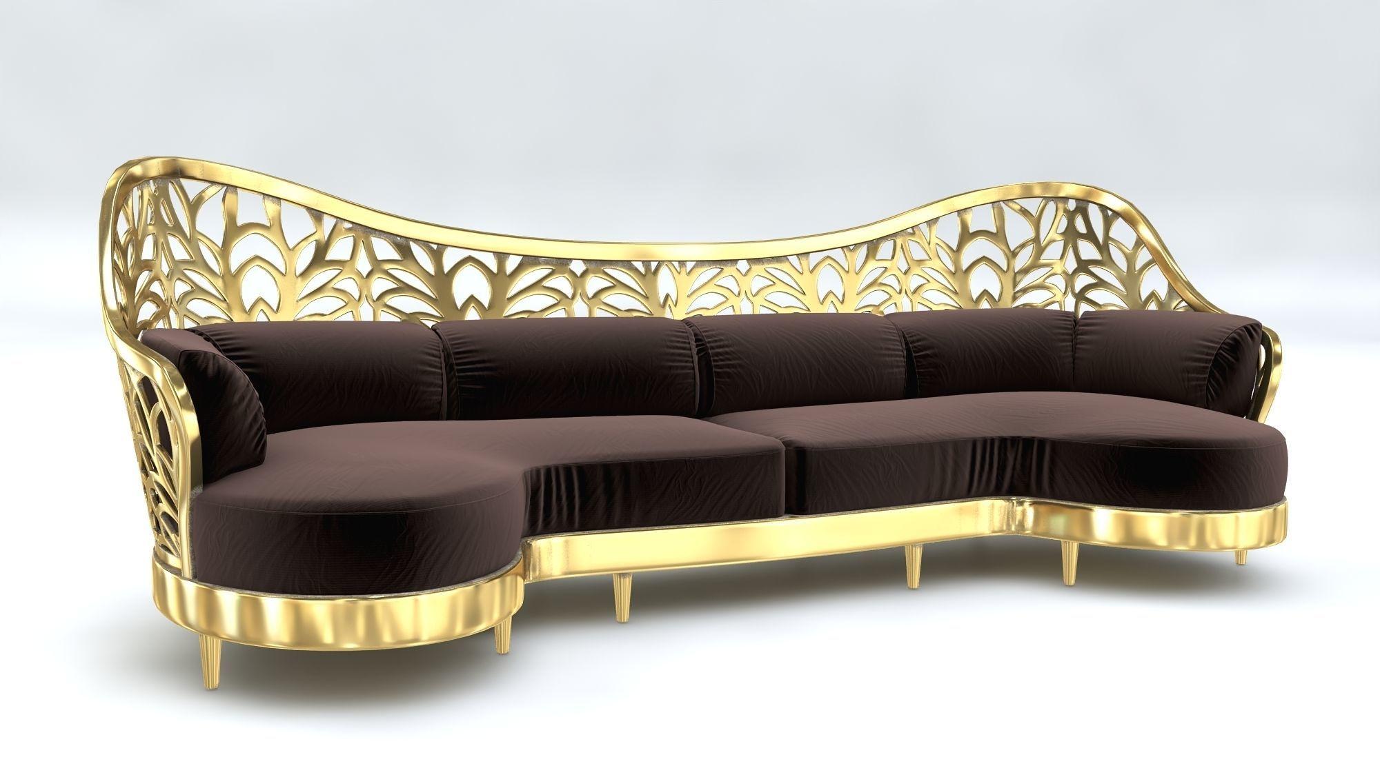 Magnificent Arabic Sofa Art Deco 3D Model Machost Co Dining Chair Design Ideas Machostcouk