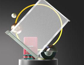 3D model Glass light metal