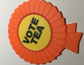3D print model Vote Tea Coaster