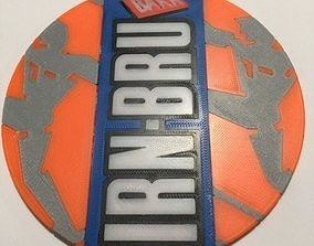 3D printable model Irn Bru Coaster