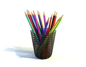 Pencils draw 3D model